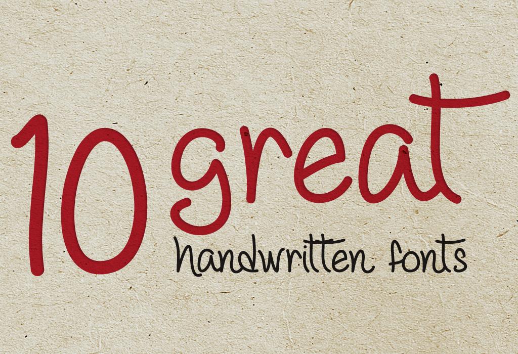 10 Great Handwritten Fonts Spunger