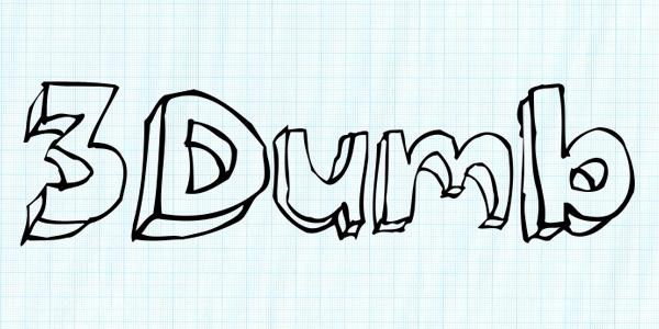 3dumb_handwritten_font