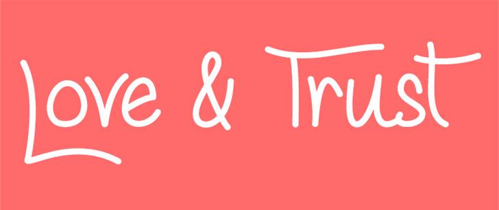 love_and_trust_handwritten_font