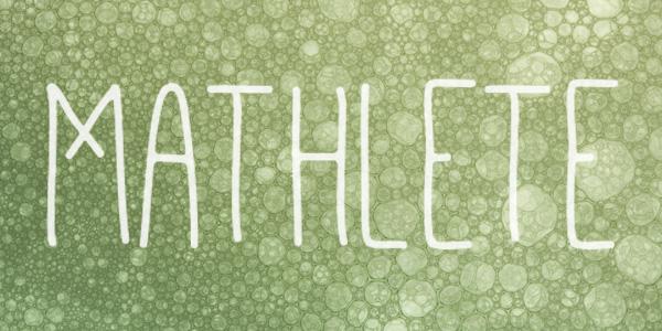 mathlete_handwritten_font