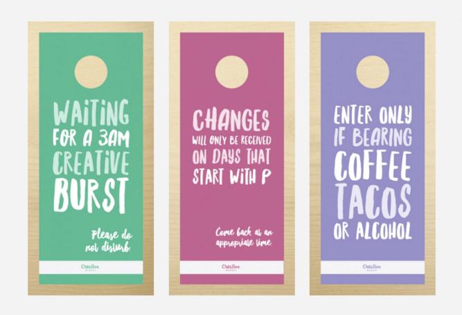 creative door hangers. 10 Brutal But Honest Door Hangers For Designers Creative R
