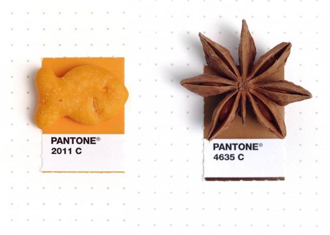 pantones with food