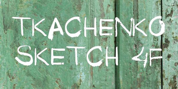 Tkachenko_Sketch_Handwritten_font