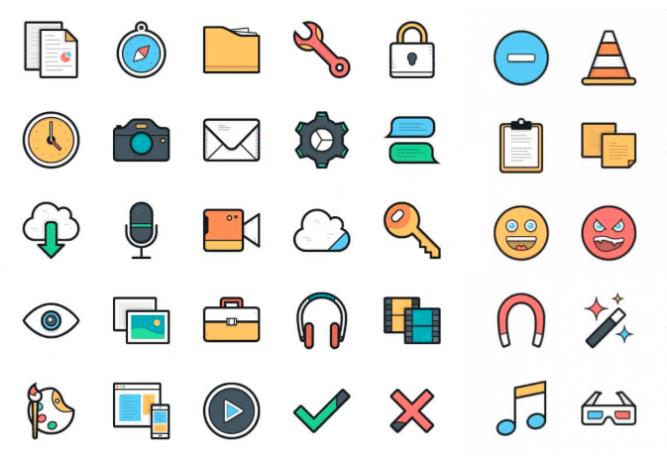 Lulu vector icons