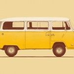 Yellow VW van